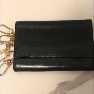 Bosca black leather 🔑 key ring holder.